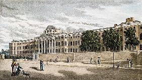 New Bethlem Hospital, St. George''s Fields; engraved by Riley