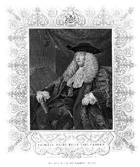 Portrait of Charles Pratt, 1st Earl Camden; engraved by H. Robinson