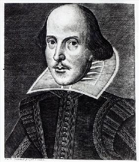 Portrait of William Shakespeare; engraved by Martin Droeshout