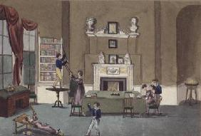 The Schoolroom in the Absence of the Governess, 1820, Battersea Rise
