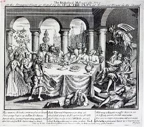 The diabolical maskquerade, or the the dragons-feast as acted the Hell-Fire-Club, at Somerset House