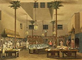 The Great Kitchen, from ''Views of The Royal Pavilion, Brighton'' John Nash (1752-1835) 1826