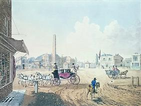View of London No.2, Entrance of St. George''s Road, or the Obelisk Turnpike, with a View of the Roy