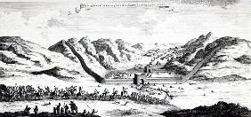 View of the Great Wall on the side where the Ambassador entered China, from ''A Collection of Voyage
