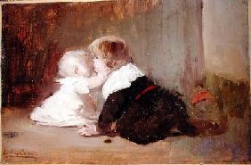 Children Playing, Leon and Marguerite 1883