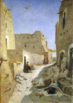 The Bab-El-Gharbi Road, Laghouat, 1859 (oil on canvas) 19th