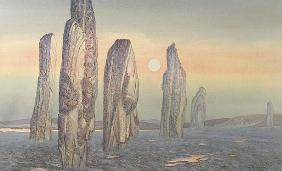 Spirits of Callanish, Isle of Lewis, 1987 (w/c and pastel)