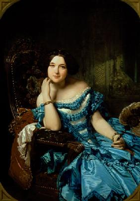 Portrait of Amalia de Llano u Dotres (1821-74), Countess of Vilches 1853