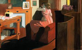 Intimacy, Couple in an Interior with a Partition 1898