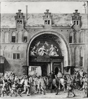 Entry of Hercule Francois of France, Duke of Alencon (1554-84) into Antwerp 19th Febru