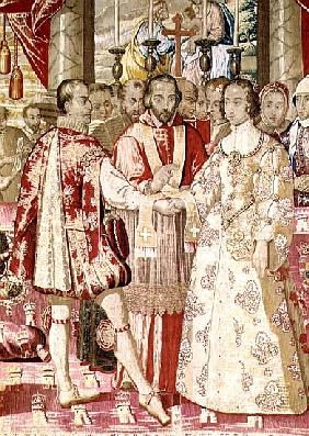 The Charles V Tapestry depicting the Marriage of Charles V (1500-58) to Isabella of Portugal (1503-3