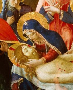 Deposition from the Cross, detail of the Virgin Mary 1436