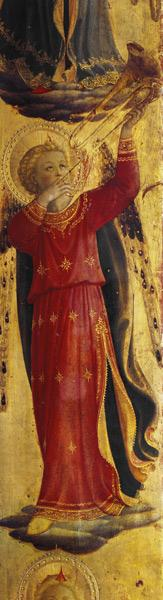 Angel Playing a Trumpet, detail from the Linaiuoli Triptych 1433
