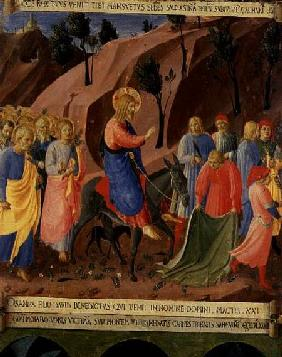 Entry of Christ into Jerusalem, detail from panel three of the Silver Treasury of Santissima Annunzi c.1450-53