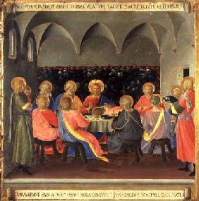 The Last Supper, detail from panel three of the Silver Treasury of Santissima Annunziata c.1450-53