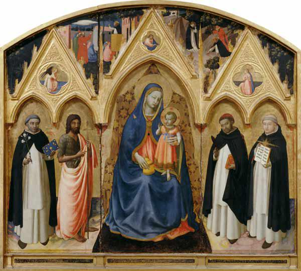 The Virgin and Child with St. John the Baptist, St. Dominic, St. Peter the Martyr and St. Thomas Aqu