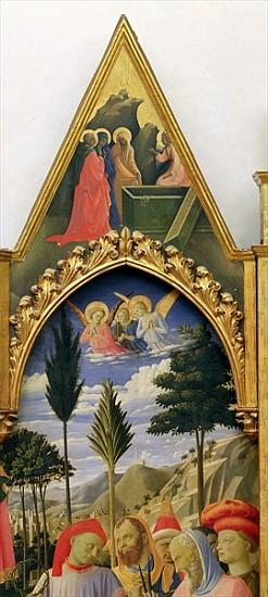 Santa Trinita Altarpiece, frame and pinnacles Lorenzo Monaco (Piero di Giovanni) (c.1370-1425) compl