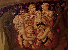 The Last Judgement, detail of the damned in hell, c.1431