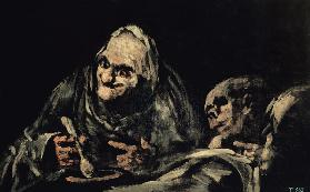 Two Old Men Eating, one of the 'Black Paintings' 1819-23