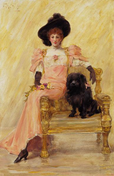 Portrait of a Lady with her Dog