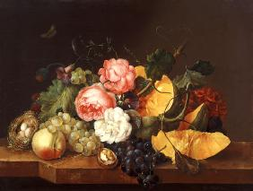Still life with Flowers and Fruit 1821
