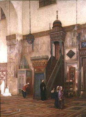 Detail of the interior of the Grand Mosque, Damascus 1873-75