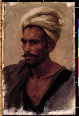Male figure with a Turban, 1865 (oil on canvas) 1915