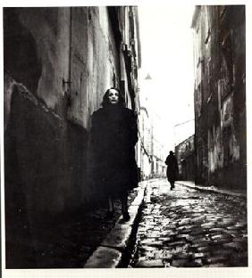 Portrait of Edith Piaf (1915-63) in Paris (b/w photo) 19th