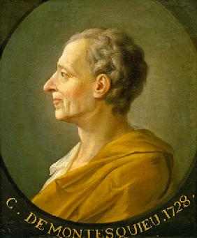 Portrait of Charles de Montesquieu (1689-1755), French philosopher and jurist 1728
