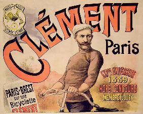 Poster advertising Clement bicycles 1889