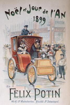Advertisement for 'Felix Potin', Christmas and New Year 1899 (colour litho) 19th