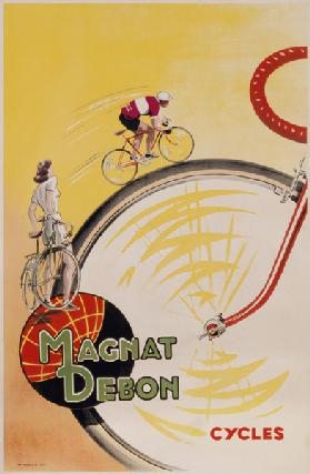 Poster advertising 'Magnat Debon' cycles c.1950