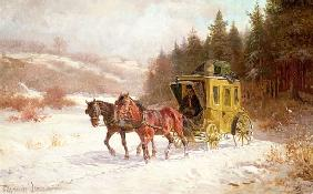 The Post Coach in the Snow