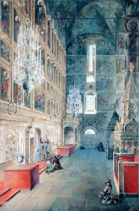 Interior of the Assumption Cathedral of the Moscow Kremlin 1819