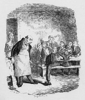 Oliver asking for more, from ''The Adventures of Oliver Twist'' Charles Dickens (1812-70) 1838, publ