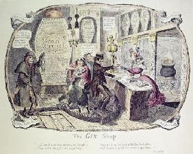 The Gin Shop, 1829 (etching) 19th
