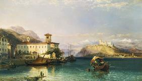 Arona and the Castle of Angera, Lake Maggiore 1856