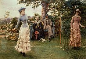A game of Tennis (Ein Tennisspiel) 1882
