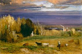 Sunshine After Storm or Sunset 1875