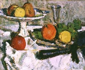 Still Life of Fruit on a White Tablecloth 1921