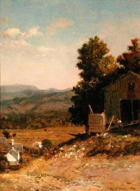 Study of Old Barn, West Campton, New Hampshire 1865