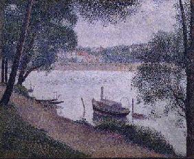 River Landscape with a boat