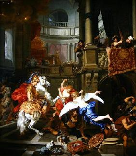 The Explusion of Heliodorus from the Temple, 1674 (oil on canvas) 1780