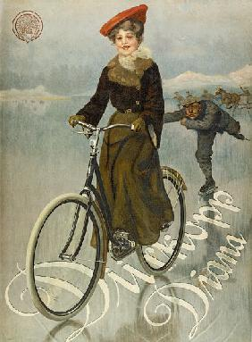 Poster advertising Duerkopp bicycles 1905