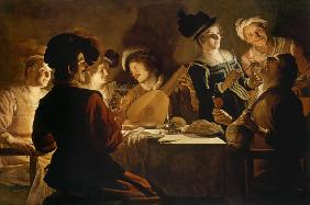 Supper with the Minstrel and his Lute