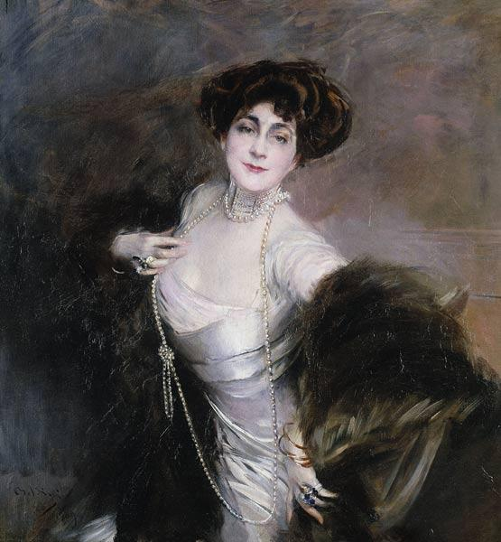 Portrait von Lady Diaz Albertini 1909