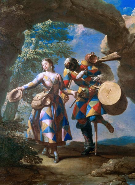 A Harlequin Returning from War c.1742