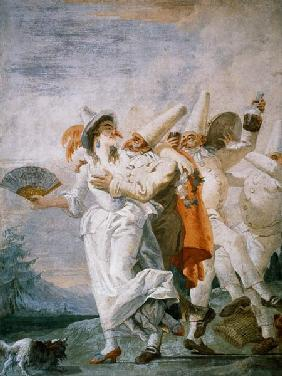 Pulcinella in Love c.1793