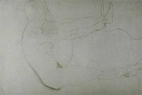 Standing Nude with Raised Legs c.1907 cil