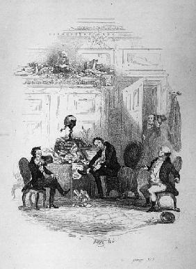 The First Interview with Mr. Serjeant Snubbin, illustration from ''The Pickwick Papers'' Charles Dar